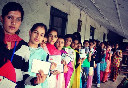 Himachali girls queue up for voting