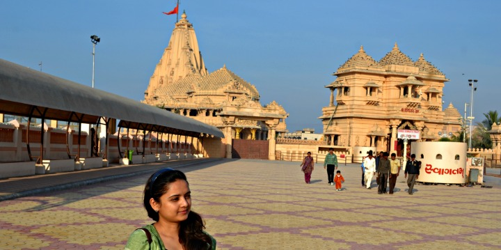 Somnath Temple - in the background