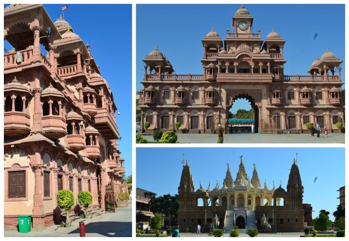 A beautiful Govinda temple just on entering Gondal