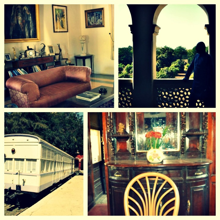 Pic 1-2 Orchard Palace; drawing room & view from Balcony at the back; Pic 3-4 Personal Railway boogie