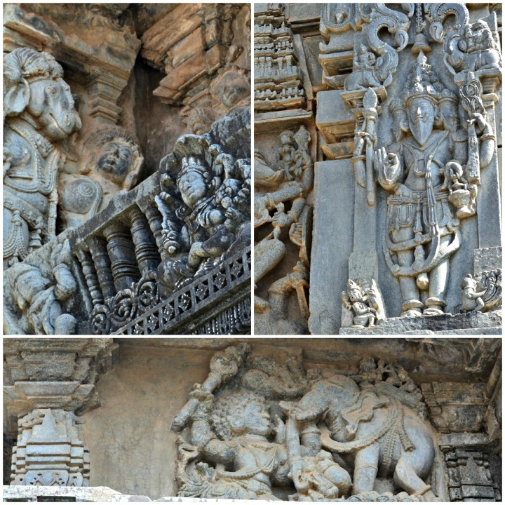Carvings on the main temple complex