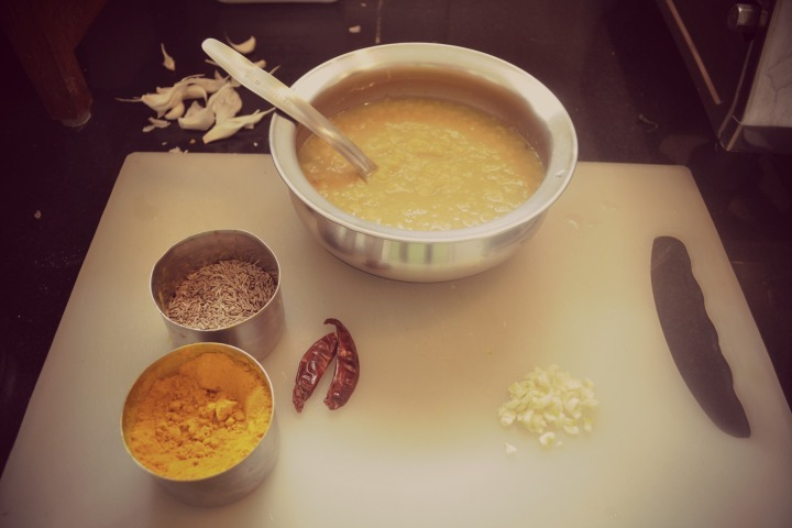 Ingredients for Dal Tadka