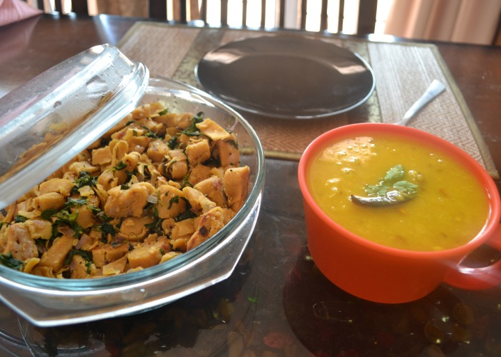 Fenugreek Pasta and Yellow Lentil Soup