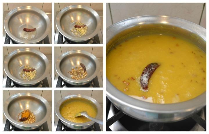 Dal Tadka / Yellow lentil soup