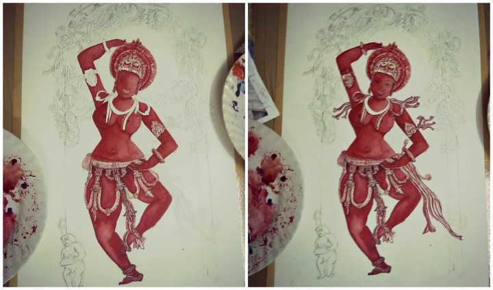 Mohini watercolor 1